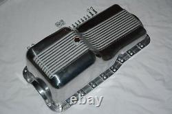 1962-82 SBF Ford Polished Aluminum Oil Pan Retro Finned Front Sump 260 289 302