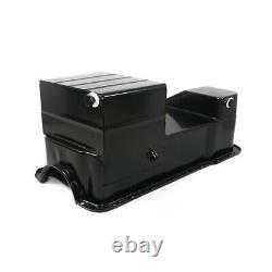1979-1993 Fox Body Ford 7qt Dual Sump Black Drag Oil Pan Small Block 302W 5.0L