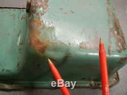 364 401 425 Buick Nailhead Oil Pan Rear Sump 57 58 59 60 61 62 63 64 65 66 Dent