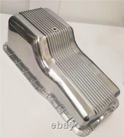 62-82 SBF Ford Polished Aluminum Oil Pan Retro Finned Front Sump 260 289 302