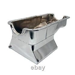 65-87 SBF Ford 7qt Front Sump Chrome Drag Race Oil Pan Small Block 260 289 302