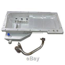 Aluminum Front Sump Oil Pan + Oil Pickup For Nissan 350Z GM LS1/LSx Swap
