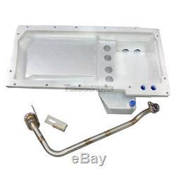 Aluminum Rear Sump Oil Pan for 86-92 Toyota Supra MK3 GM LS1/LSx Motor Swap
