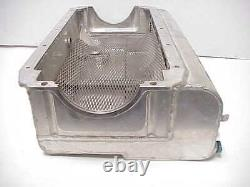 Aluminum SB Chevy Dry Sump Oil Pan With Two Pickups for 2 Piece Rear Seal J3