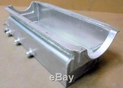 BBC Custom Alum Dry-Sump Oil Pan, Billet Ends, 3 P/U's, 6.0 Deep, Screen/Scraper