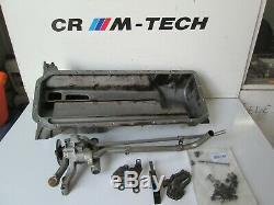 BMW E36 M3 3.2 evo S50B32 twin oil pump with sump pan dip stick tube bolts good