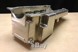 Bb Chevy Aluminum Wet Sump Oil Pan 20385-b/rl Billet Rail