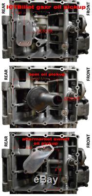 Billet Oil Pan With Pick Up Low Profile Suzuki GSXR 600 750 1000 2001-2005