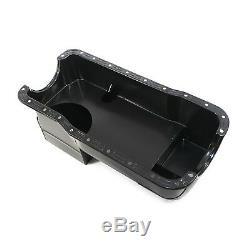 Black Drag Oil Pan 7qt Dual Sump 1979-1993 Fox Body SBF Ford Small Block 351W