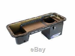 Canton 16-870 Oil Pan Ford 332 428 FE Ford Deep Rear Sump Truck Oil Pan Black