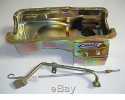Canton Mustang 5.0 302 Road Race 7 Quart Rear Sump T Oil Pan 3 pc Kit SBF 15-644