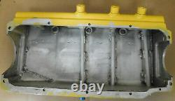 Champ Pan SBC Modified Alum Dry Sump Oil Pan, Billet Ends, 3 -12AN P/U's, 4 Deep