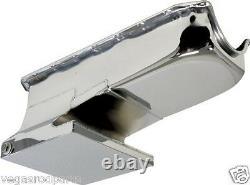 Chevy II 2 11 Nova Small Block Rear Sump Oil Pan. 283 305 327 350 Chrome Plated