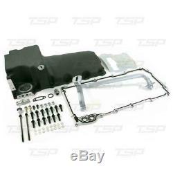Chevy LS Retro Fit Oil Pan Kit LSX Aluminum Rear Sump Oil Pan, Aluminum Low