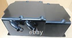 Custom Chevy 90º V6 Racing Steel Oil Pan, Baffled, Screening, Dry Sump, 2 Pkup