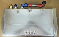 Custom K83010899 SB Chevy Alum Dry Sump Oil Pan, 3 Pickups, 4 3/4 Deep
