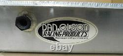 Dan Olson SB Chevy Alum Dry Sump Oil Pan, Billet Ends, 3 Pickups, 6 1/2 Deep