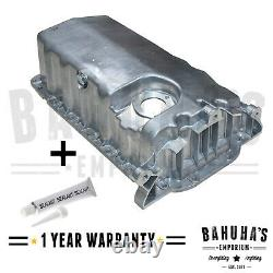 ENGINE OIL SUMP PAN FOR VW GOLF MK4 1.6 1.9 TDi 2.0 19972007 PLUG + SEALANT