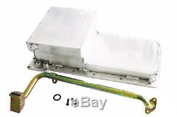 Fabricated Aluminum Rear Sump Oil Pan with Pick-up Chevy V8 Swap GM LS LS1 LS2 LS6
