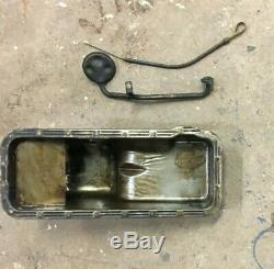 Ford Fe 352 428 Rear Sump Oil Pan With Pick Up Tube Dipstick And Tube Used