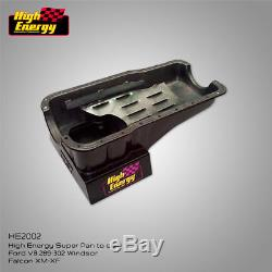 High Energy Engine Oil Sump Pan Suit Ford 289 302 Windsor V8 Falcon Xr Xt Xw Xy
