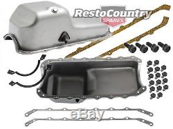 Holden V8 Engine Sump + Gaskets + Fitting kit HQ HJ HX HZ 253 308 NEW oil pan