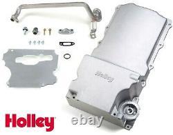 Holley 302-1 Chevy LS Swap Retro-Fit Rear Sump Aluminum Oil Pan 55-87 Cars Truck
