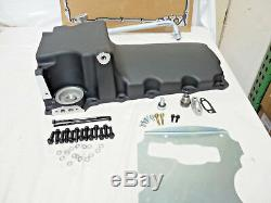 LSX Aluminum Rear Sump Retro-Fit Oil Pan GM BLACK Camaro Nova Chevelle
