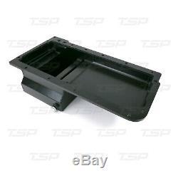 LSX Fabricated Aluminum 7-Quart Rear Sump Oil Pan Black LS1 LS2 LS3 LS6