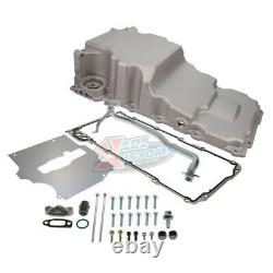 LS Retro-Fit Aluminum Rear Sump Oil Pan WithAdded Clearance With Turbo Drains