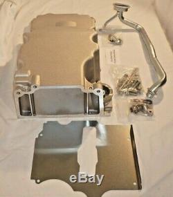 Low-Profile Retro-Fit LSX Aluminum Rear Sump Oil Pan, Aluminum, Natural