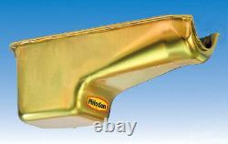 Milodon Engine Oil Pan 30401 Street/Strip Deep Sump 6qt Gold Iridited for SBC