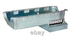 Moroso Engine Oil Pan 20406 Wet Sump 6.0qt Clear Zinc for Chevy 396-454 BBC