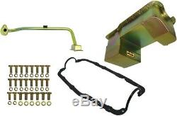 New Weiand Oil Pan Kit, 7 Qt, Gold, 9 Depth, Rear Sump, Drag, 79-93 Mustang 351w