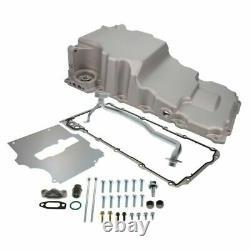 Retro-Fit LSX Aluminum Rear Sump Oil Pan WithAdded Clearance, Aluminum, SATIN
