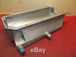 SBC Aluminum Dry Sump Oil Pan Small Block Chevy IMCA UMP NASCAR #14145