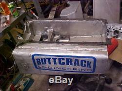 Sbc Aluminum Dry Sump Oil Pan 2 Pickups Wide/spread Rail Aftermarket Blocks 8
