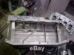 Sbc Aluminum Dry Sump Oil Pan Pro Pan 7 1/4 Depth 3 Pickups Std Rail Nice Clean
