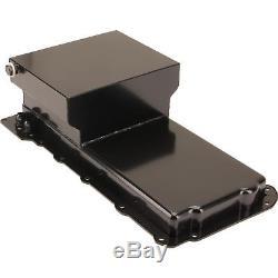 Speedway Motors Black Steel GM Chevy LS Engine Swap 7Qt Rear Sump Oil Pan