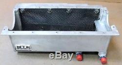 Steffs K27311198 SBC Alum Dry-Sump Oil Pan, Full Screen, 2 -12AN P/U's, 8 deep
