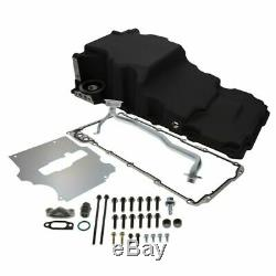 TSP 81075BK Retro-Fit LSX Aluminum Rear Sump Oil Pan WithAdded Clearance