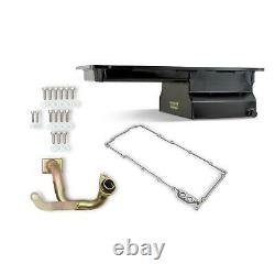 Weiand 5042WND Fabricated Oil Pan Kit, LS1/2/6, Front Sump, Black